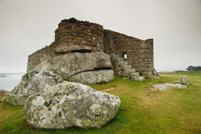 Old Blockhouse Gun Tower Ruins on Tresco