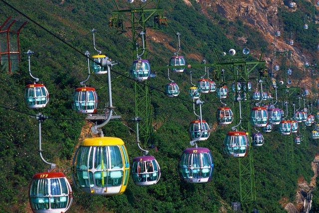 Aerial Trams at Ocean Park Hong Kong