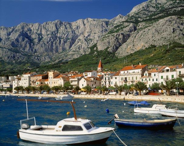 Makarska, Harbour and Biokovo Mountains