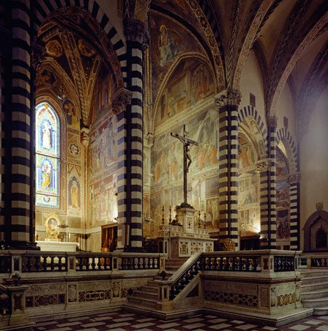 Cathedral, central and lateral chapels with f
