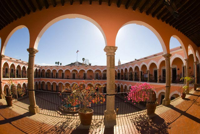 Interior Courtyard of the Municipal Palace in