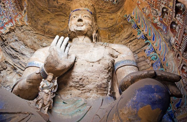 Colossal Buddha in Yungang Caves