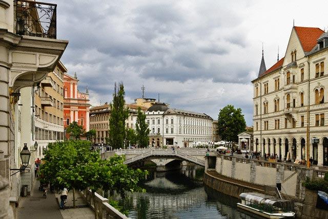 Historic Architcture in Ljubljana