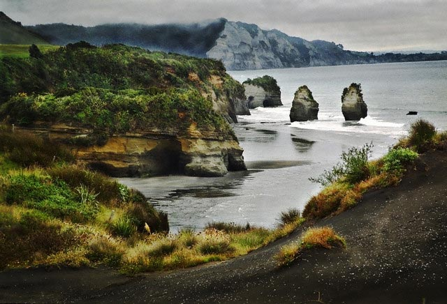 Three Sisters Rock Formation on North Taranak