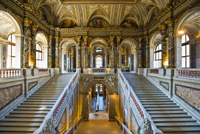 Stairway in Kunsthistorisches Museum
