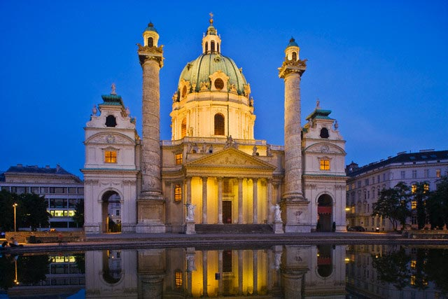 Karlskirche and Reflecting Pool