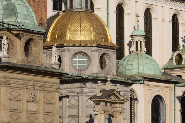 Green and Gold Domes of Sigismund Chapel