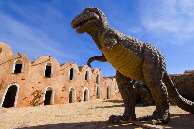 Dinosaur Sculptures at Ksar de Mourabitines