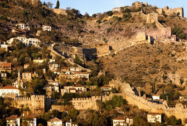 City Walls of Alanya in Turkey