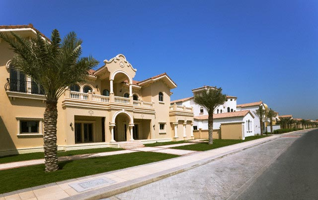 Houses on The Palms Manmade Islands in Dubai