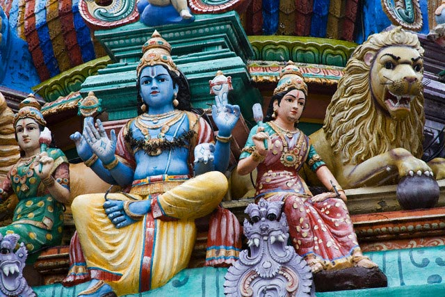 Sculpture at Sri Mariamman Hindu Temple
