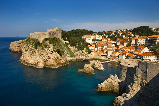 Dubrovnik and Adriatic Sea