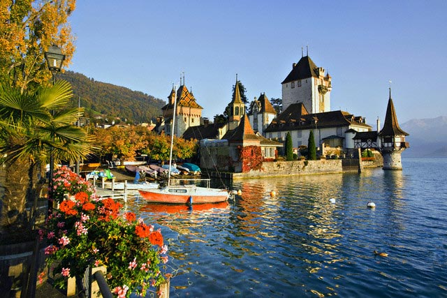 Oberhofen castle, Lake Thun