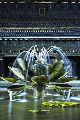 Fountain in Higashi Hongan-ji Temple in Kyoto