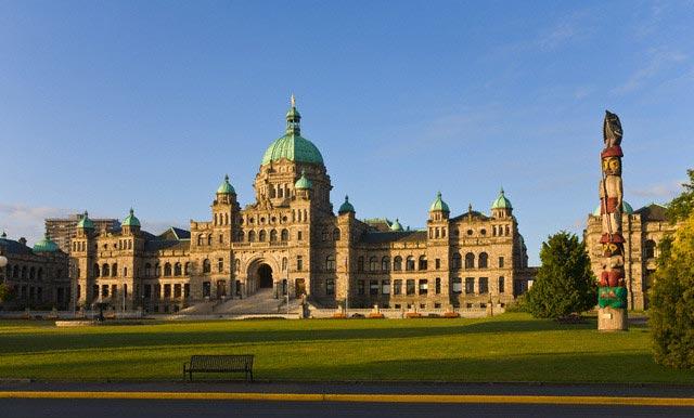 British Columbia Parliament Building in Victo