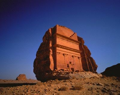 Nabatean Tomb Ruins at Medain Saleh, Saudi Ar