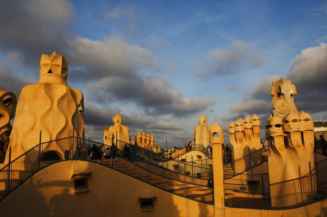 Chimney Stacks on Casa Mila by Gaudi