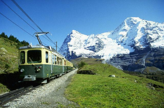 Tram to Jungfraujoch