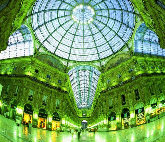 View Into the Dome of Galleria Vittorio Emanu