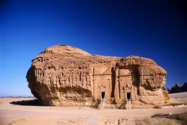 Qasr al-Bint, a Nabatean Tomb in Saudi Arabia