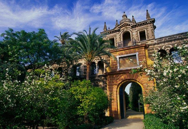 Walkway Through Gardens at Alcazar