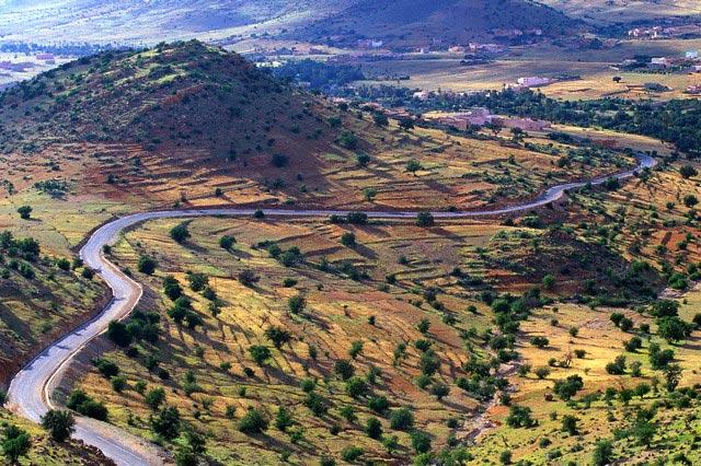 Road Winding Along Anti-Atlas Foothills