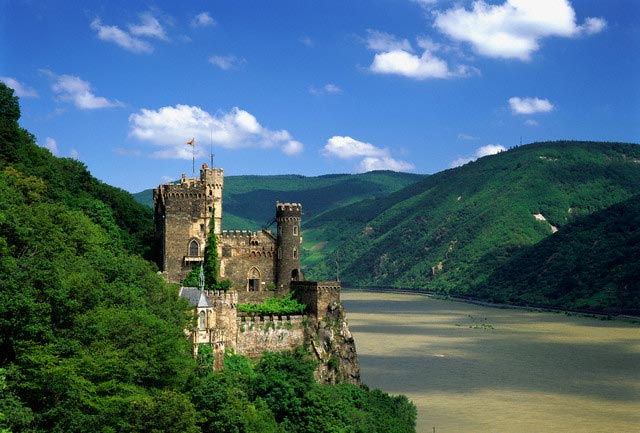 Rheinstein Castle Above the Rhine