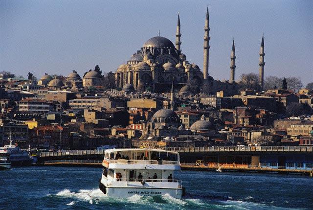 Yacht Approaching Istanbul