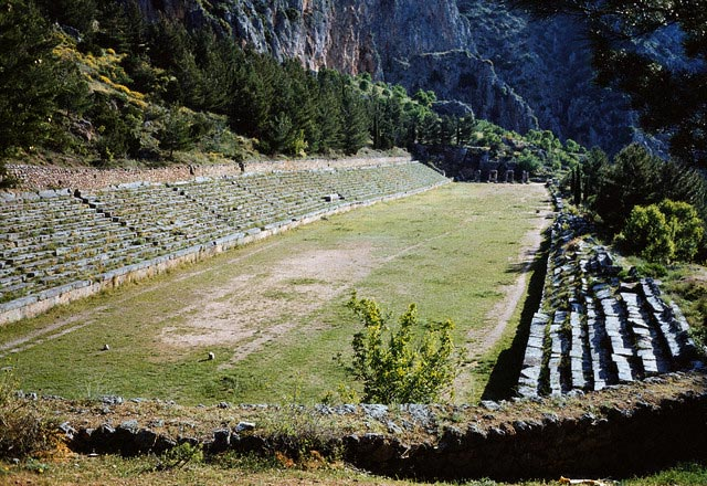Overview of the Stadium at Delphi