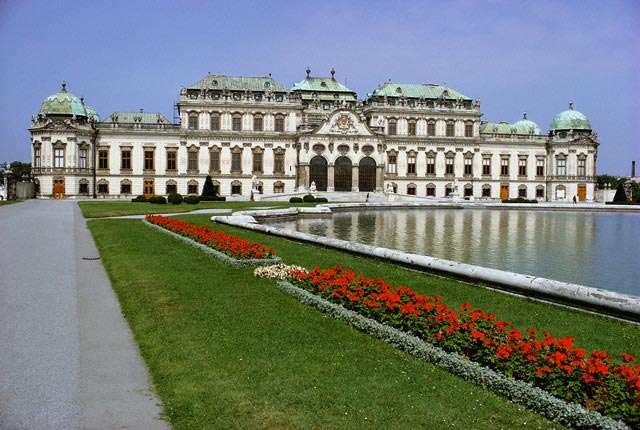 Exterior View of Upper Belvedere Palace and R