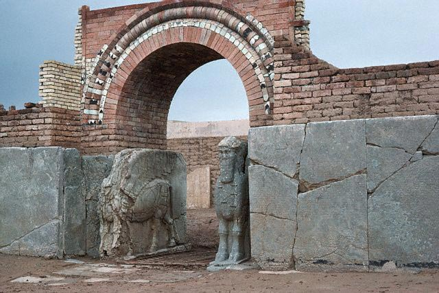 Sculpture in Ancient Assyrian Palace