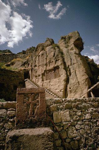 Temple Cut Into a Tufa Rockface