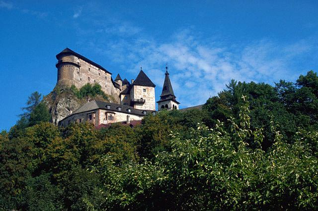 Orava Castle in Oravasky Podzamok