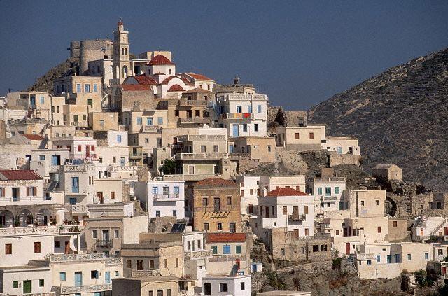 Greek Village on Hillside