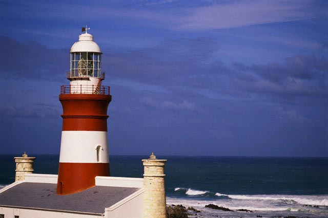 Cape Agulhas Lighthouse on Southern Tip of So