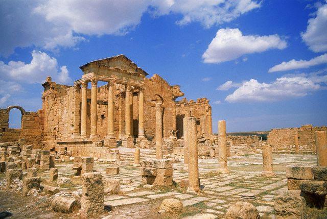 Forum and Pillars at Sbeitla, Tunisia