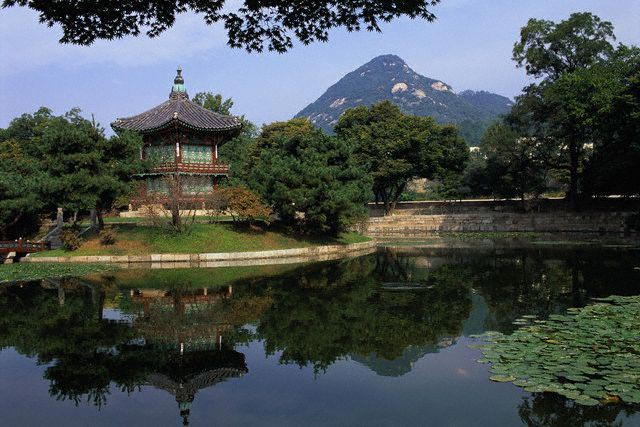 Hyangwonjong Pavilion at Palace of Kyongbokku