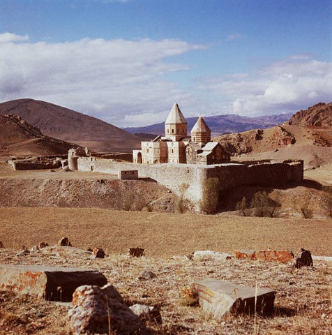 Ghara Kelisa Against the Desolate Landscape o