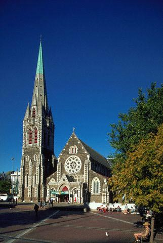 Facade of Christchurch Cathedral