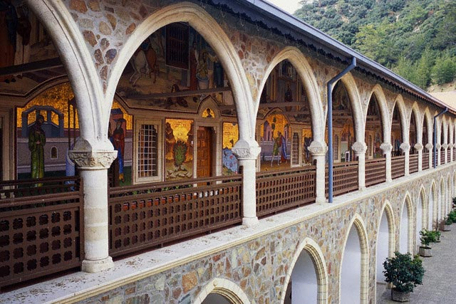 View an Arcade and the Mosaic Cycle at Kykko
