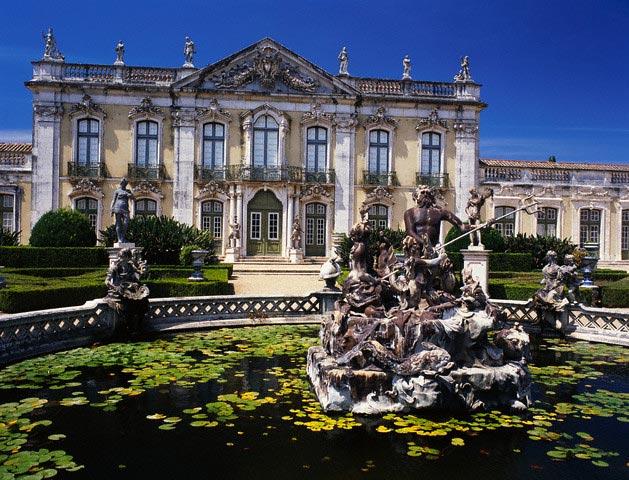 Facade and Fountain of Palacio de Queluz