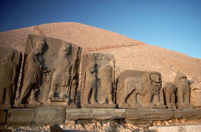 Stone Reliefs at Nemrut Dagi, Turkey