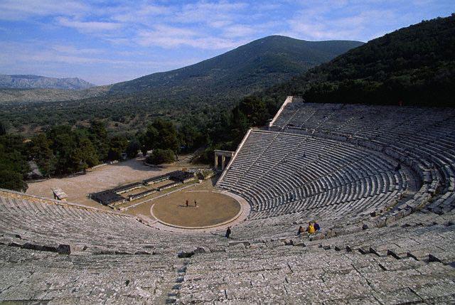 Remains of Amphitheatre at Epidaurus
