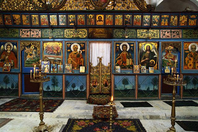 Decorations on Walls of St. Elia Church