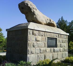 عکس دوم مجسمه شیر سنگی