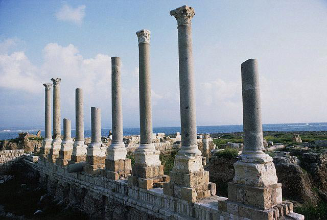 Roman Colonnade Against