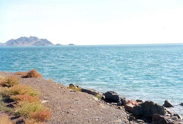 Caspian Sea shore