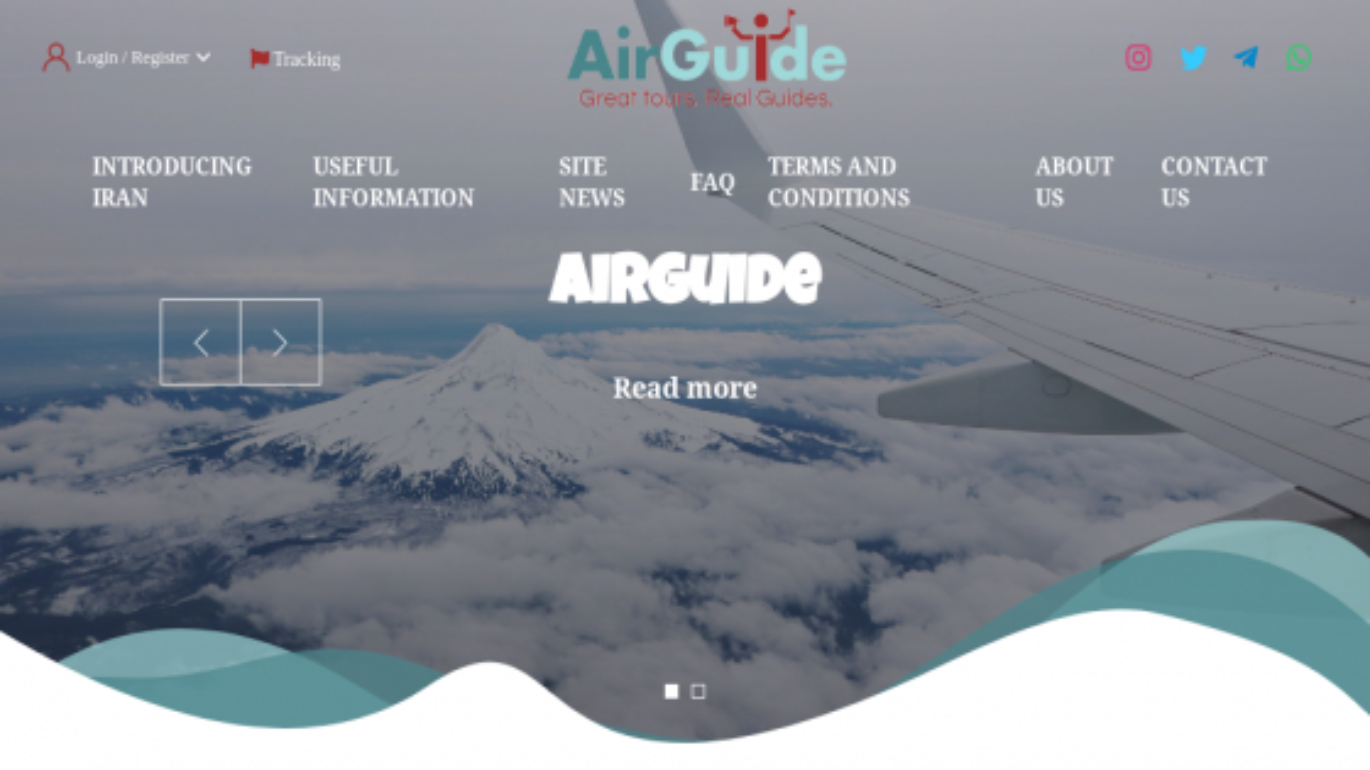 طراحی سايت شرکت air giude