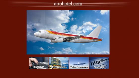 طراحی سايت آژانس مسافرتی ایر و هتل