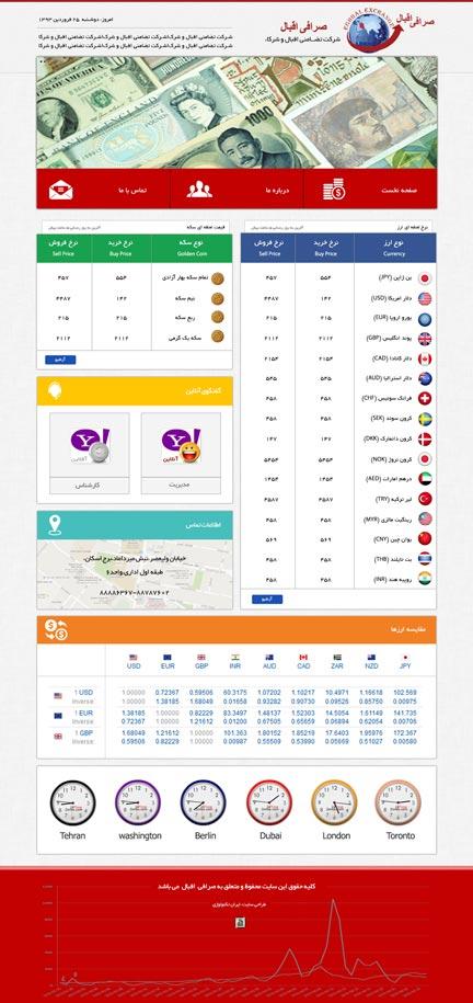 طراحی سایت صرافی اقبال